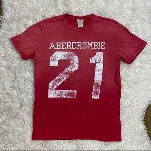 red Abercrombie vintage tee